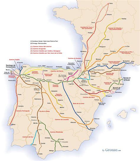 el camino map camino de santiago map el camino de santiago de