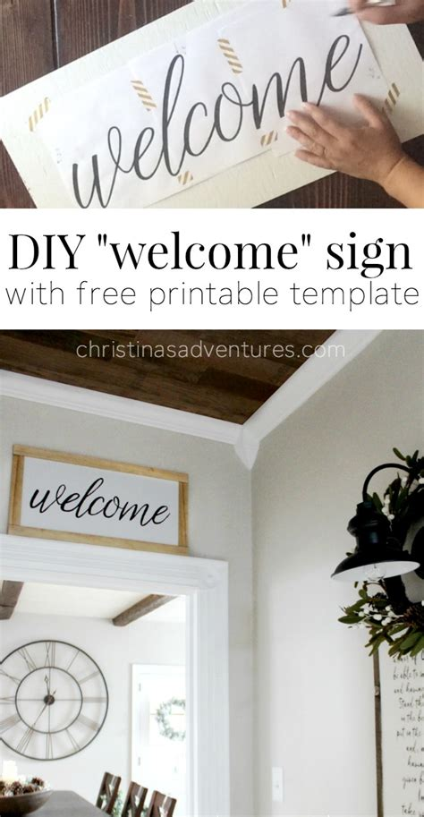 welcome sign template diy welcome sign christinas adventures
