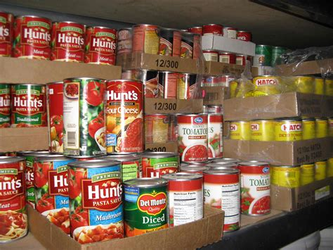 Canned Foods Shelf canned goods just might save you the provident prepper