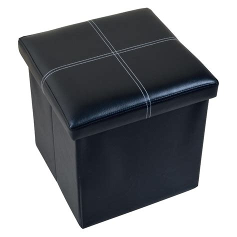 faux leather ottoman household faux leather ottoman the home storage