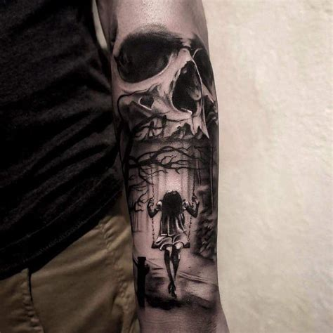 skull tattoo for girl skull and swing tatueringar och inspiration