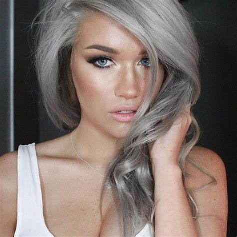 grey hairstyles for young women granny hair trend young women are dyeing their hair