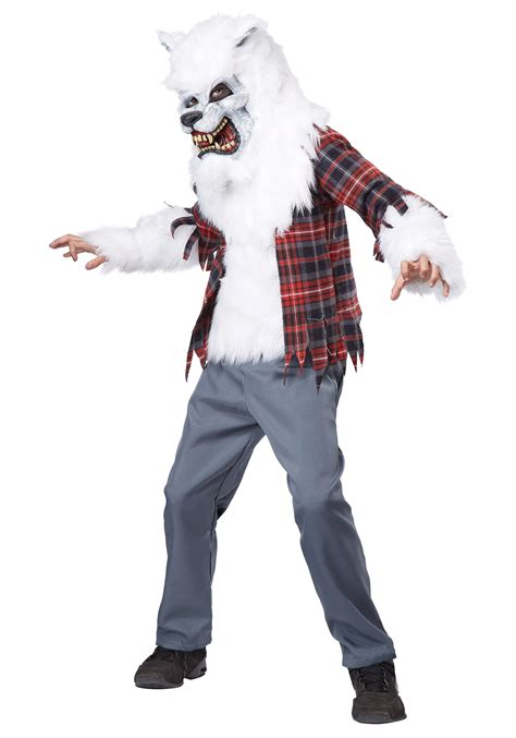 wolf costume for child white costume