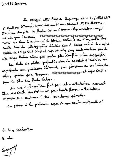 Exemple De Lettre Temoignage Harcelement Modele Attestation Contre Une Personne Document