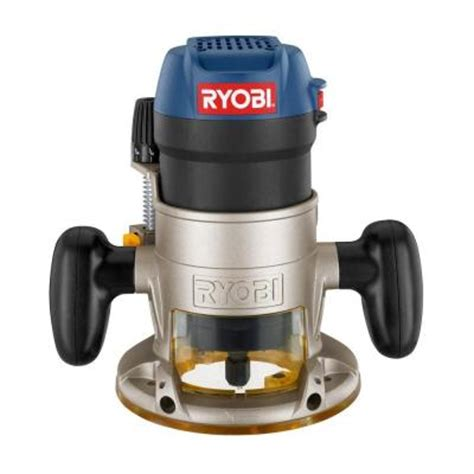 ryobi 1 5 fixed base router r163k the home depot