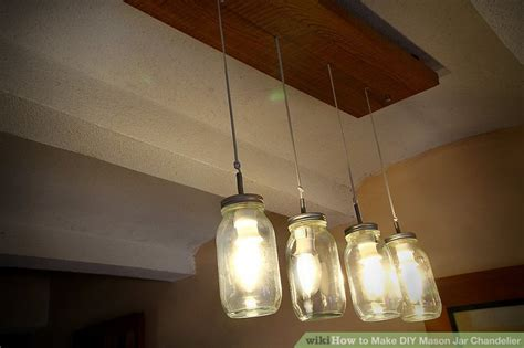 how to make diy jar chandelier with pictures wikihow