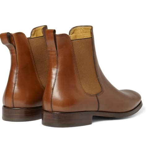 apc mens boots a p c leather chelsea boots in brown for lyst