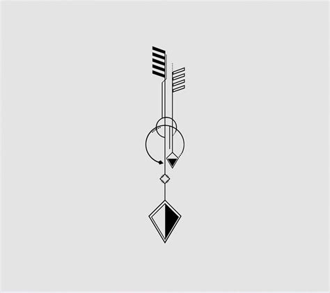 geometric tattoo arrow tattoo idea tattooviral com