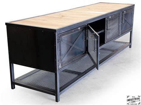 kitchen island metal custom industrial kitchen island reclaimed wood steel real industrial edge furniture