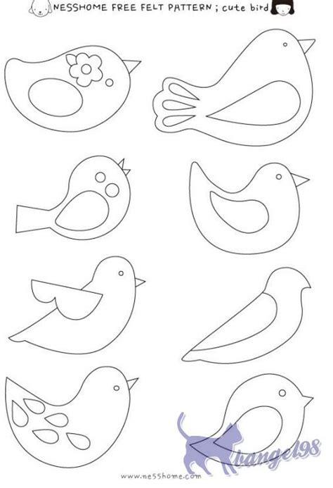 felt shape templates 25 best ideas about bird patterns on bird