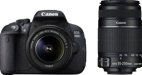 Canon 700d canon eos 700d zoom ef s18 55 mm is ii and ef s55 250 mm ii dslr black