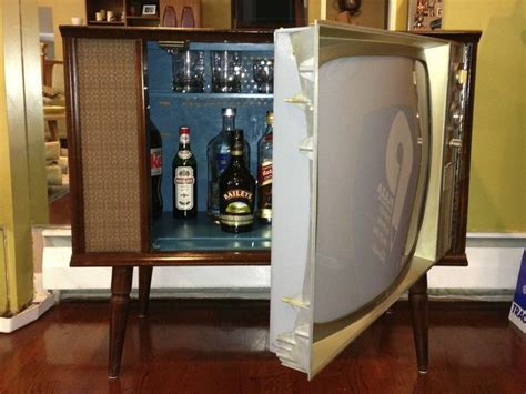 vintage cocktail set vintage tv hidden cocktail bar liquor cabinet liquor