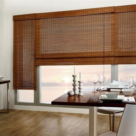 Window Treatments For Large Windows Tahiti Bamboo Roman Shade Bamboo Roman Shades Windows
