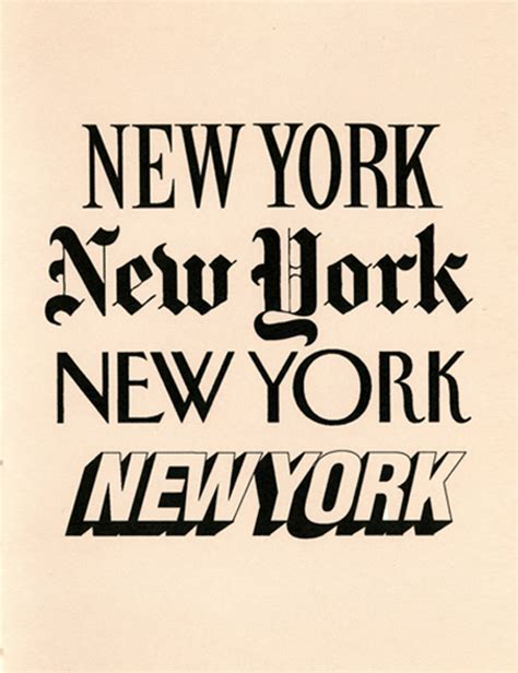 tattoo fonts new york typeface of the new yorker