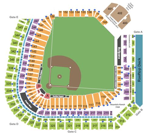 coors field map colorado rockies packages