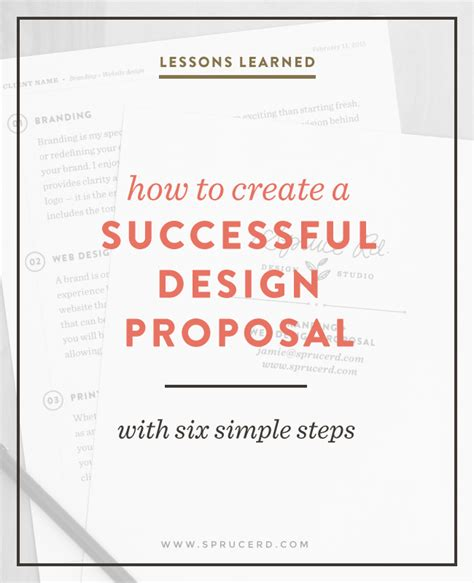 design a proposal how to create a successful design proposal spruce rd