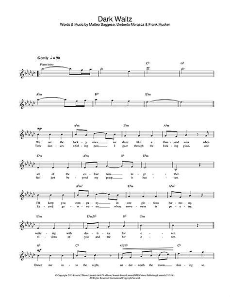 waltz lyrics waltz chords by hayley westenra melody line lyrics
