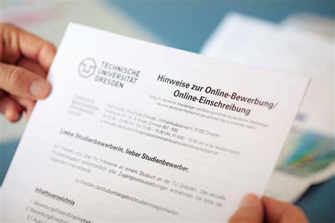 Bewerbung Hochschule Zittau Immatrikulationsamt Studium Tu Dresden