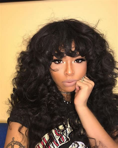 sew in styles with big curls and bangs 1406 best hair images on pinterest hair dos braids