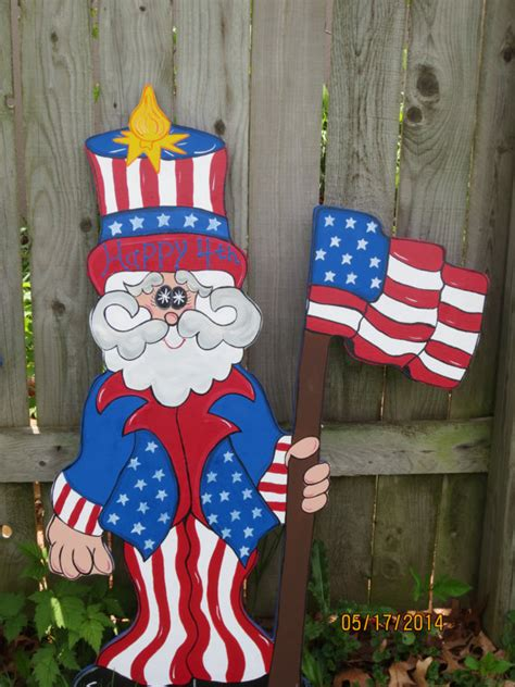 4th of july backyard decorations uncle sammy 4th of july decor patriotic wood by chartinisyardart