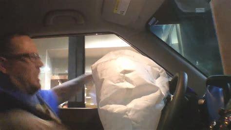 Airbag Prank by Airbag Drive Thru Pranks Deployed Freaks Out