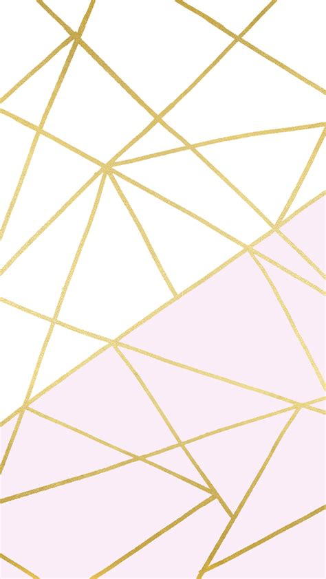 iphone wallpaper gold and white pink white and gold geometric wallpaper by linesacross