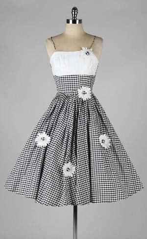Black And White Vintage Dress vintage gingham dress