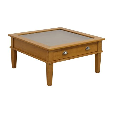 80 wooden shadow box square coffee table tables