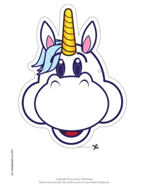 printable unicorn face printable happy unicorn mask mask