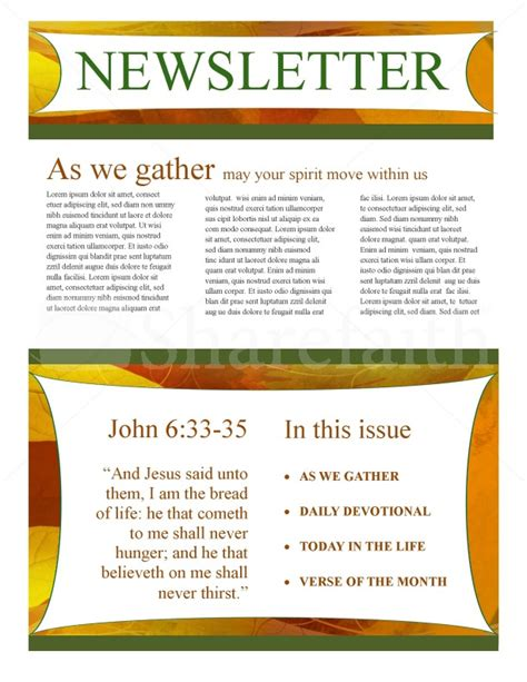 fall newsletter templates fall newsletter template design template newsletter