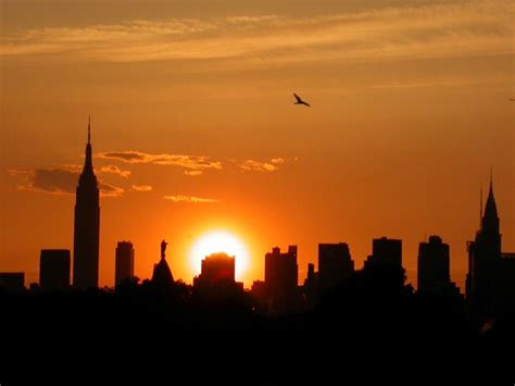 new york skyline sunset is a must see