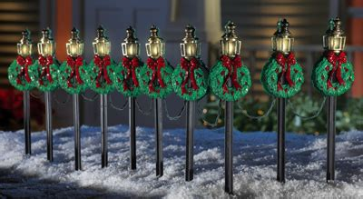 tall christmas light stakes l posts pathway stakes set of 10 from collections etc