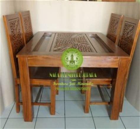 Ctc 4 Kursi Bunga Pink jual meja makan minimalis jati terbaru harga murah di jepara nagafurniturejepara