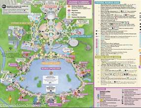map of epcot florida printable disney park maps the world and more