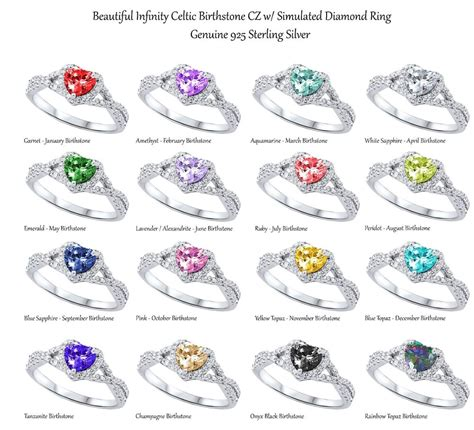 cut promise infinity celtic birthstone sterling
