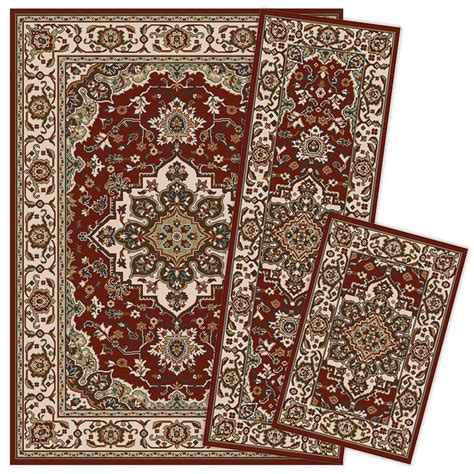 Area Rugs 5 X 6 Shop Weavers Of America Kingston 3 Set Indoor Area Rugs Common 5 X