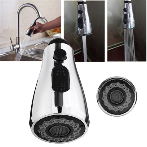 2 Functions Kitchen Pull Out Faucet Sprayer Nozzle Water