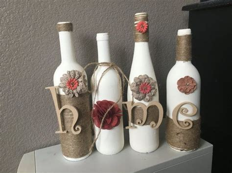 wine bottle home decor decoration handmade by