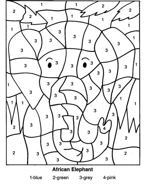 kids color by number coloring pages coloring page for kids