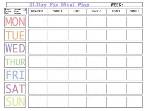 meal plan template excel excel template calendar monthly printable