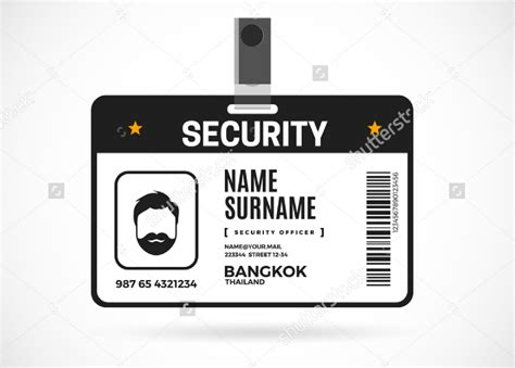 Editable Id Card Template by 8 Editable Identification Card Template Designs Design