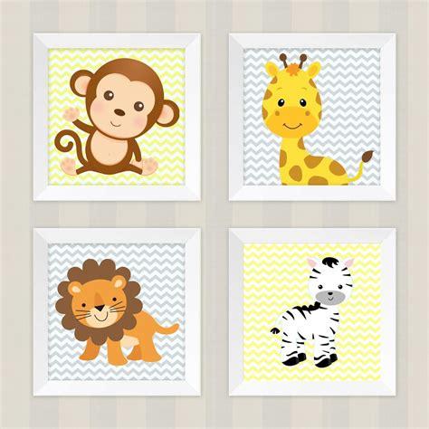 decorar kit de bebe kit 4 quadros decora 231 227 o infantil quarto beb 234 safari
