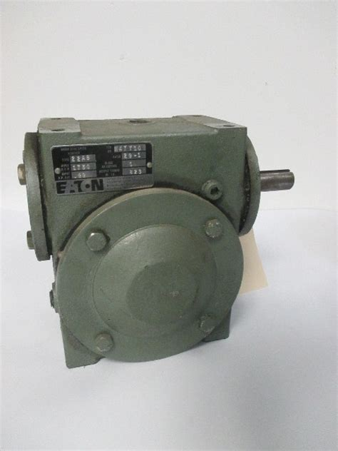 eaton ab  angle worm gear speed reducer   ratio  rpm   hp