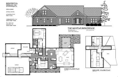 presentation drawing layout optional residential design inc