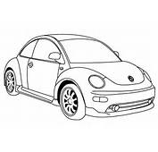 Volkswagen Beetle Coloring Page Free Online Pictures