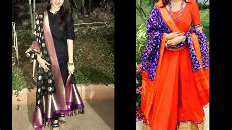banarasi  ikkat pure silk dupatta designs  simple