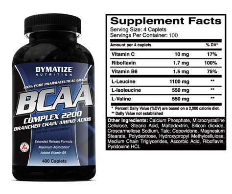 supplement xpress dymatize bcaa complex 2200 200 capsules 400 capsules