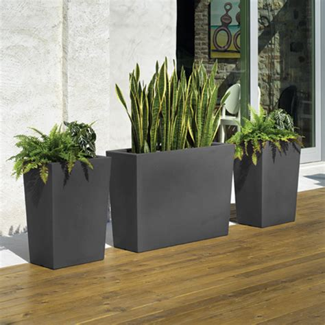 pot de jardin exterieur grand cache pot anthracite gratiano