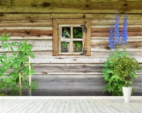 wooden wall murals wooden chalet window wallpaper wall mural wallsauce