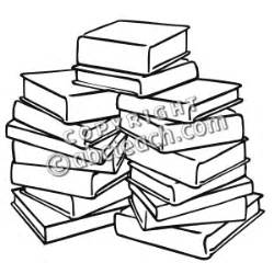 stack of books coloring page clip pile of books b w abcteach